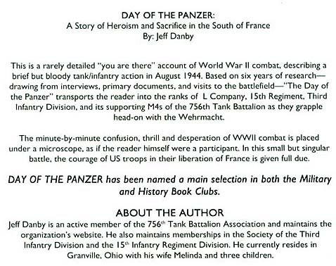 3rd infantry division bibliography day of the panzer a story of american heroism and sacrifice in southern france hardcover by jeff danby author click here to go to amazon fandeluxe Choice Image