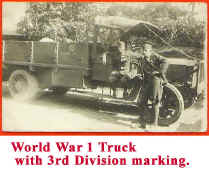 WW 1 Truck with 3rd Division Markings